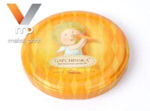 "Twist-off cap with lithography ""Amazing little men from Evgeniya Gapchinska"""