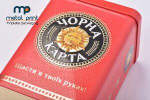 Літографія для металевої упаковки кави ТМ Чорна Карта