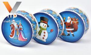 Литография и лакировка жести для упаковки новогодних подарков
